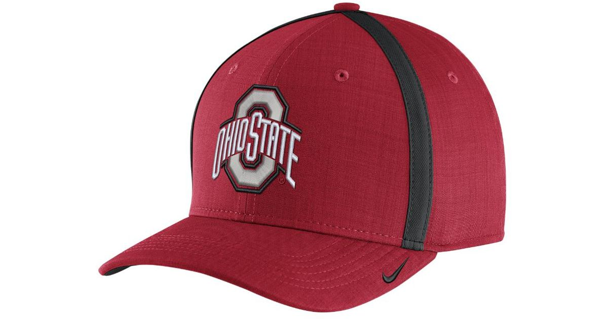 f967193401b Lyst - Nike College Aerobill Sideline Coaches (ohio State) Adjustable Hat ( red) in Red for Men