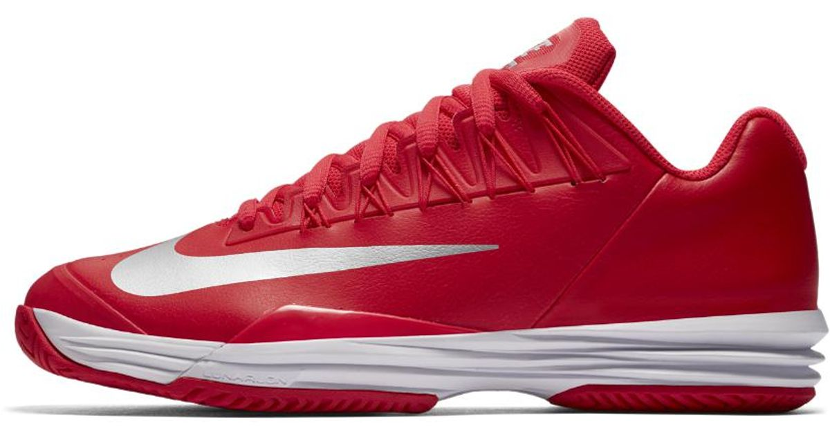 9e28346f4de Lyst - Nike Court Lunar Ballistec 1.5 Men s Tennis Shoe in Red for Men