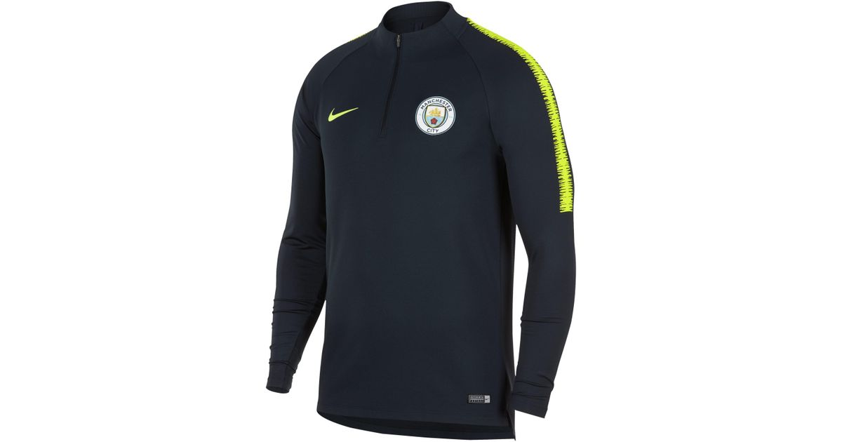 12f9cdff Nike Manchester City Fc Dri-fit Squad Drill Long-sleeve Football Top in  Blue for Men - Lyst