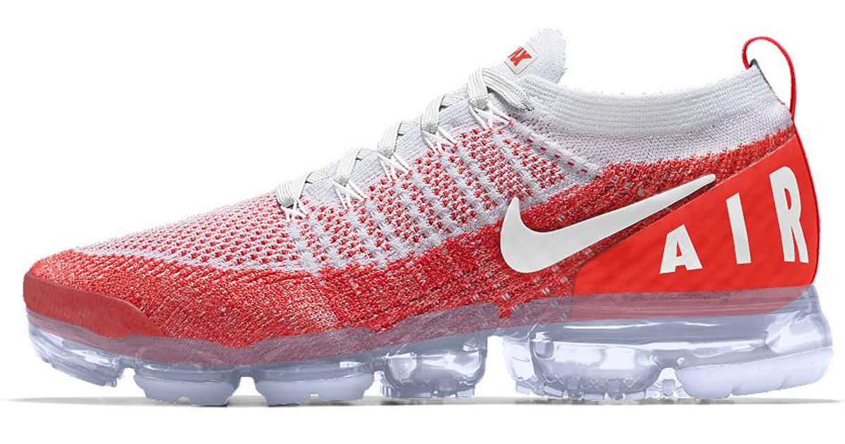 sale retailer ea3a4 26fbd Lyst - Nike Air Vapormax Flyknit 2 Id Men s Running Shoe in Red for Men nike