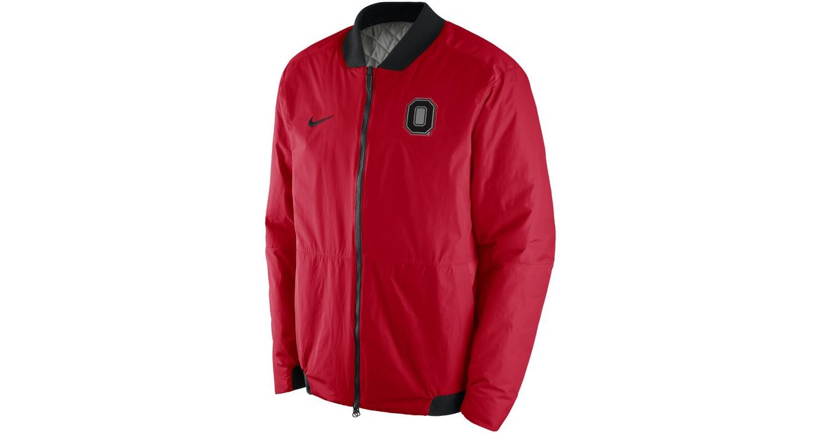 ffb4b926da97 Lyst - Nike Bomber (ohio State) Men s Jacket in Red for Men