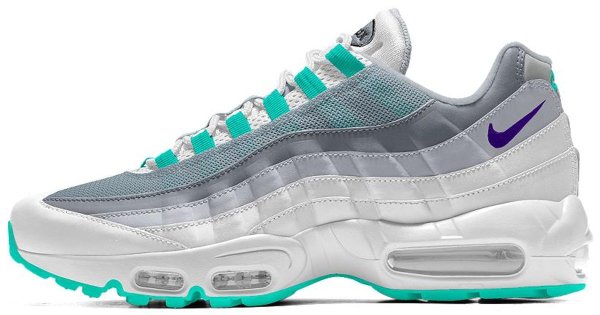 uk availability c1e13 37a37 ... low price lyst nike air max 95 id womens shoe in green b1847 96f5a