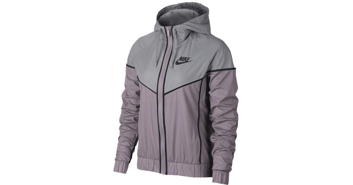 f8b059b4a9 Lyst - Nike Sportswear Windrunner Women s Jacket in Gray