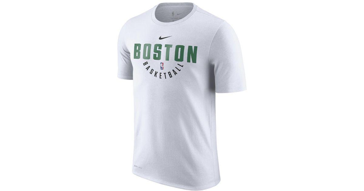 0ccd274cedbd Lyst - Nike Boston Celtics Dry Men s Nba T-shirt in White for Men