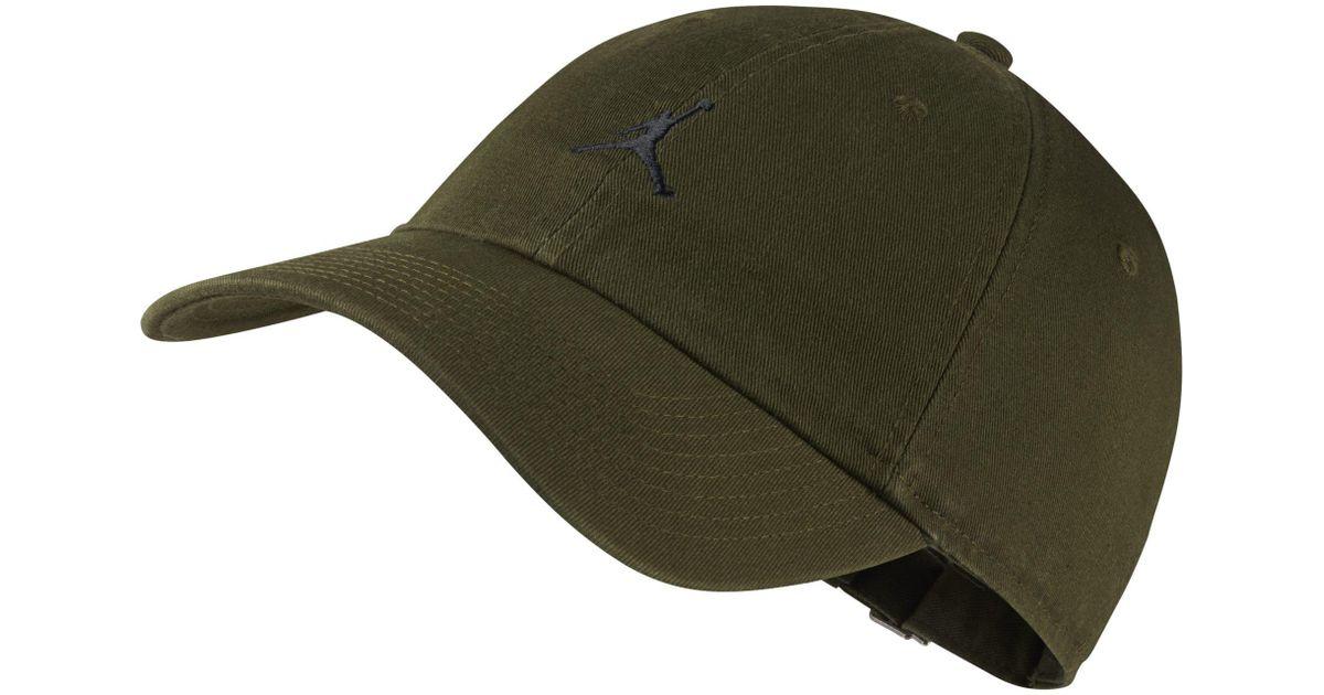Nike Jordan Jumpman Heritage 86 Adjustable Hat in Green - Lyst 4b1ba5a725fc