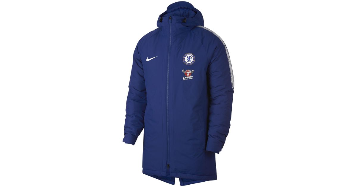 ae1445369 Nike Chelsea Fc Squad Jacket in Blue for Men - Lyst