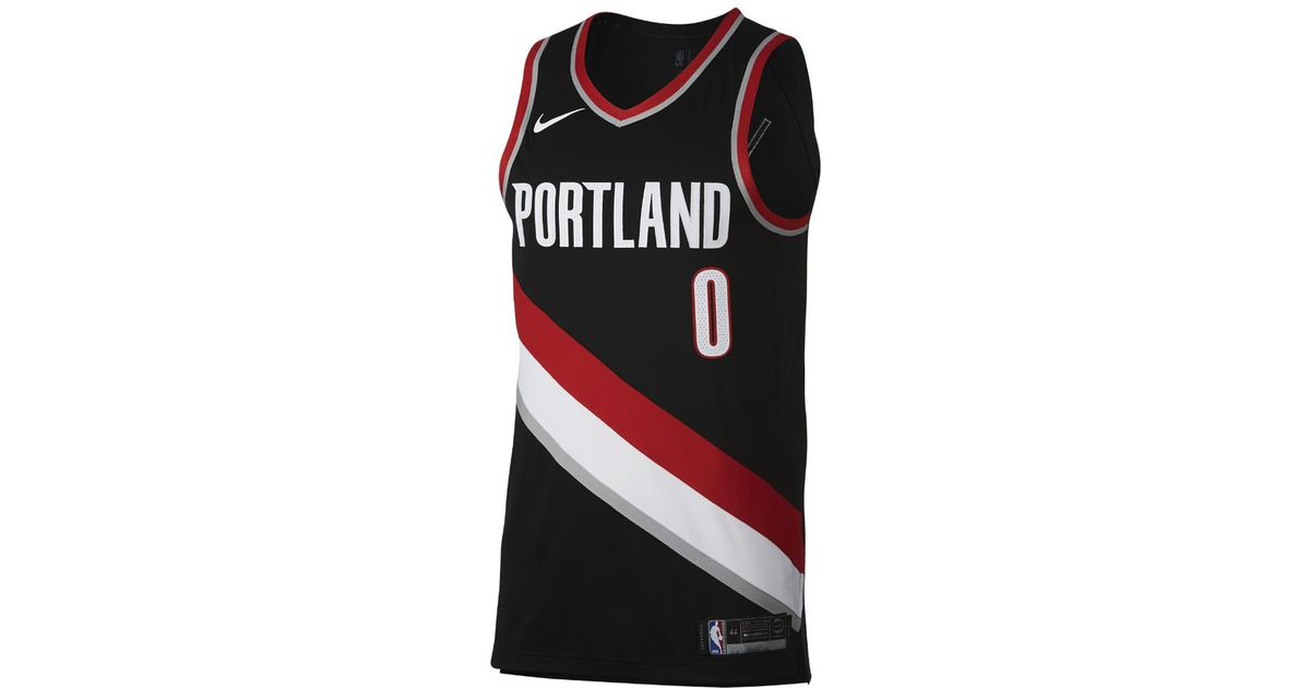 2843ebe1b16 55426 f9c96  inexpensive inexpensive lyst nike damian lillard icon edition  authentic jersey portland trail blazers mens nba connected