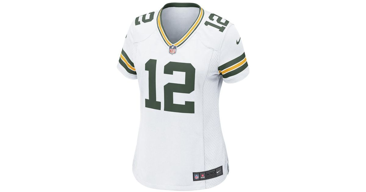 competitive price 4e870 984c7 Nike - White Nfl Green Bay Packers (aaron Rodgers) Women's Football Away  Game Jersey - Lyst