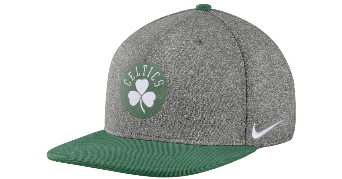 a5cf0aa511544 ... clearance lyst nike boston celtics aerobill nba hat grey in gray for  men b7855 a2752
