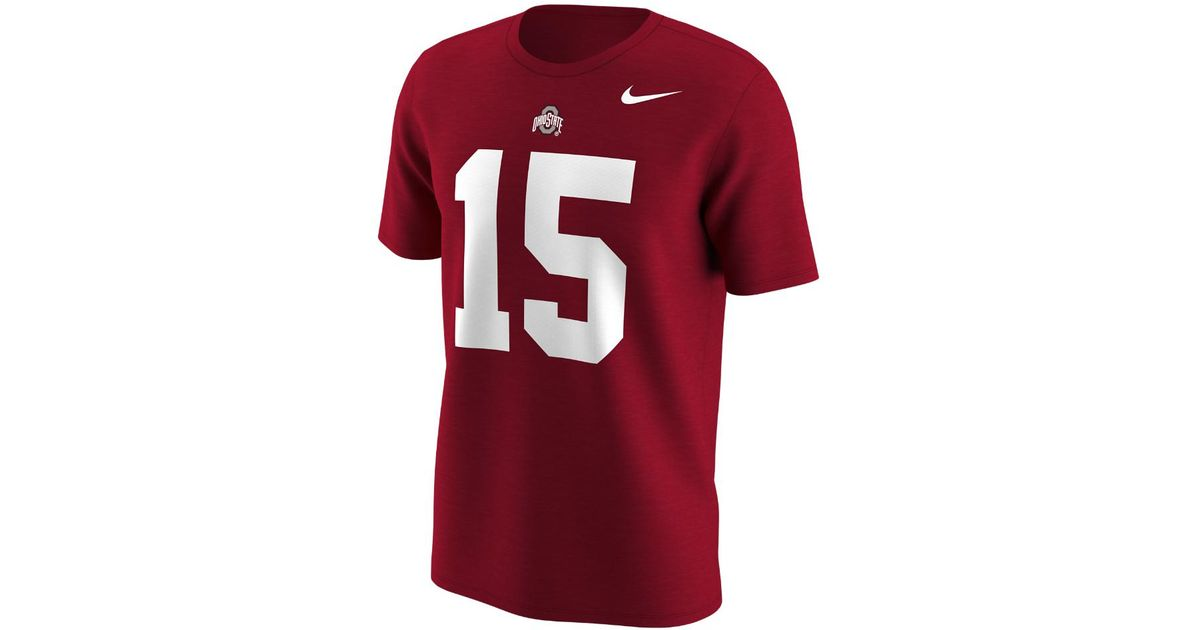 874f4e813 Lyst - Nike College Name And Number (ohio State   Ezekiel Elliott) Men s T- shirt in Red for Men