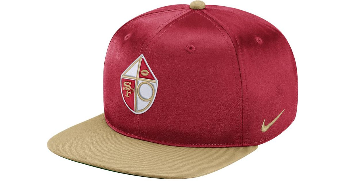 size 40 a0b48 1aa9b ... best lyst nike pro historic nfl 49ers adjustable hat red in red for men  b2559 a33ab