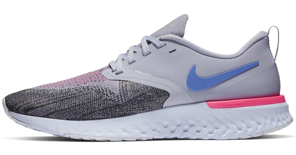 9183387fb1b8a Nike Odyssey React Flyknit 2 Running Shoe in Blue - Lyst