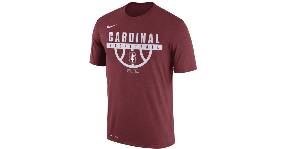 d0df8be4d3d8 Lyst - Nike College Dry Basketball (stanford) Men s T-shirt in Red for Men