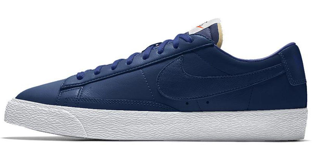 big sale cef1d 7091e ... clearance lyst nike blazer low id mens shoe in blue for men 0d501 47209