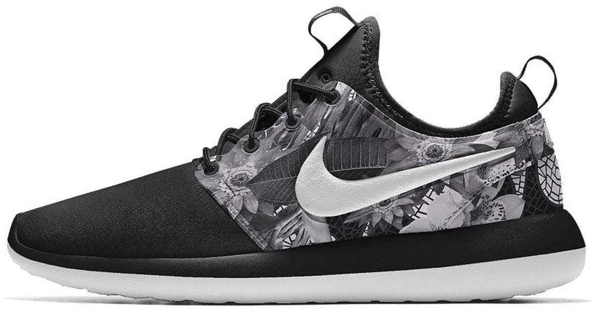 Lyst - Nike Roshe Two Id Women s Shoe in Black 0097feac0e