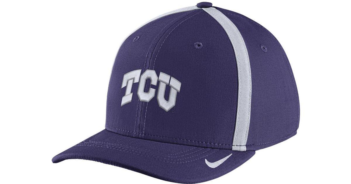 ... get lyst nike college aerobill swoosh flex tcu fitted hat in blue for  men 41f96 ab3d3 856c06c4ea82