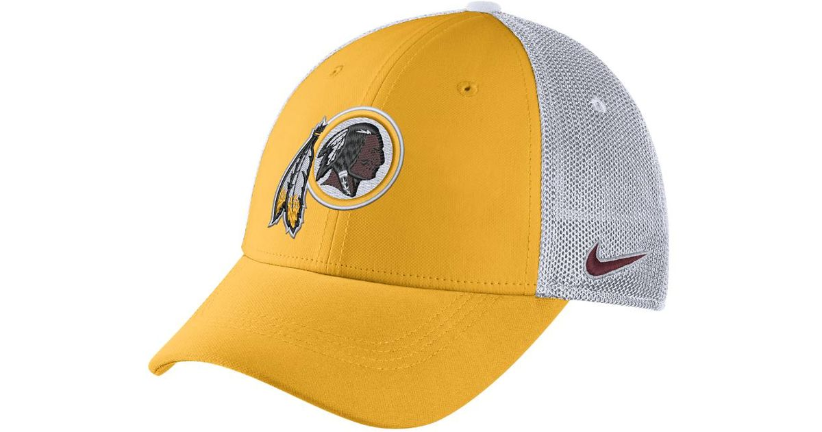 ca301b41f Lyst - Nike Color Rush Swoosh Flex (nfl Redskins) Fitted Hat in Yellow for  Men