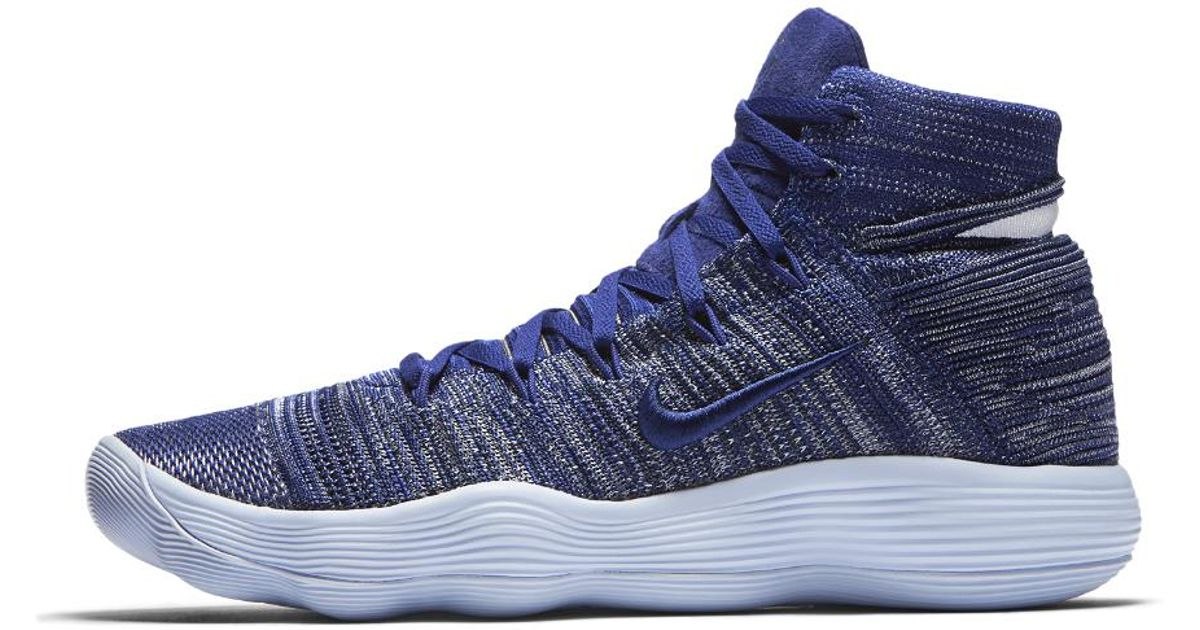 e09355af693198 Lyst - Nike React Hyperdunk 2017 Flyknit Basketball Shoe in Blue for Men