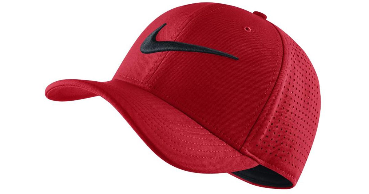 29fdb84f1e5 Lyst - Nike Vapor Classic 99 Sf Fitted Hat (red) - Clearance Sale in Red  for Men