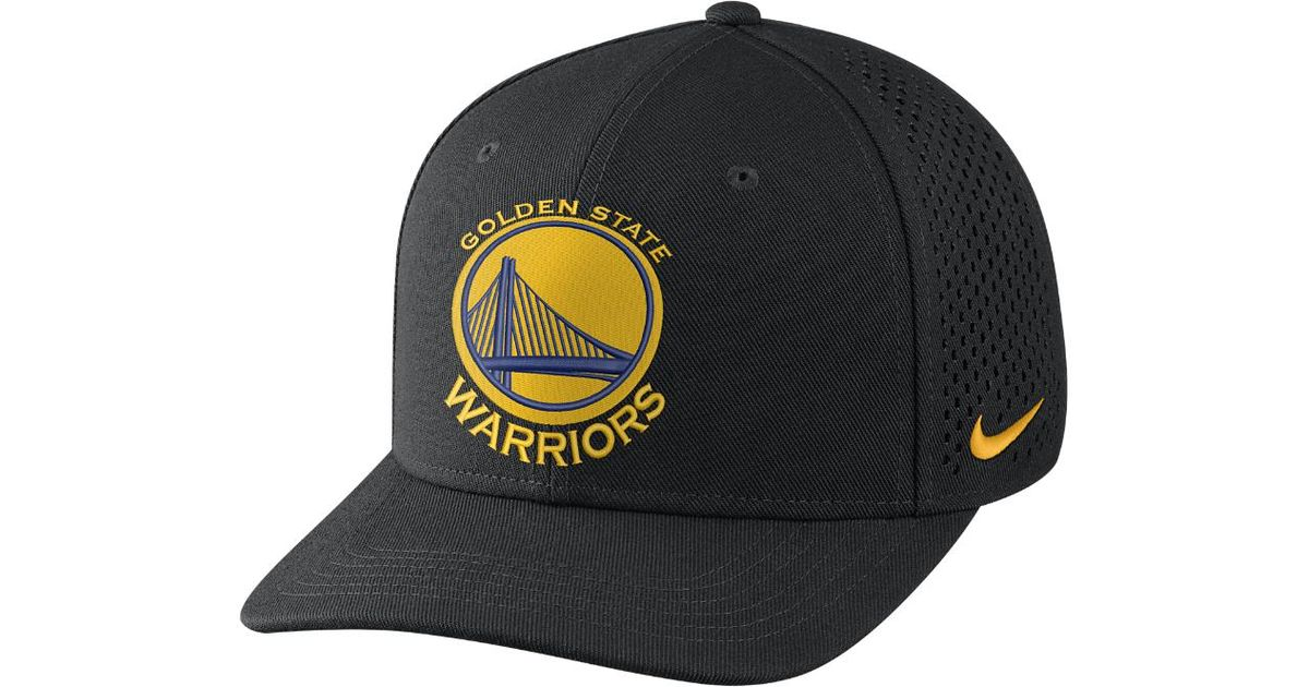 Lyst - Nike Golden State Warriors Aerobill Classic99 Adjustable Nba Hat ( black) in Black for Men e55e5ee741a