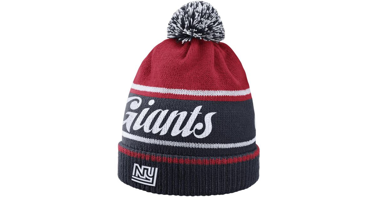 Lyst - Nike Historic (nfl Giants) Knit Hat (blue) in Red for Men 3f7394a2a