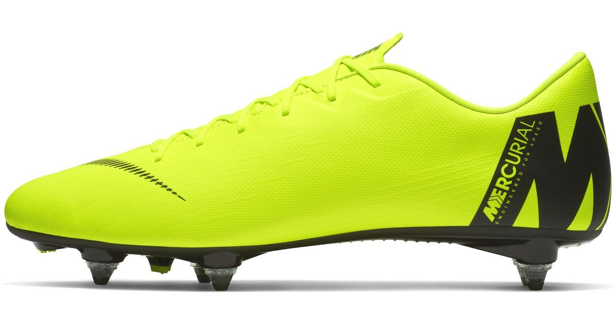 a604be81770 Nike Mercurial Vapor Xii Academy Sg-pro Soft-ground Football Boot in Yellow  - Lyst