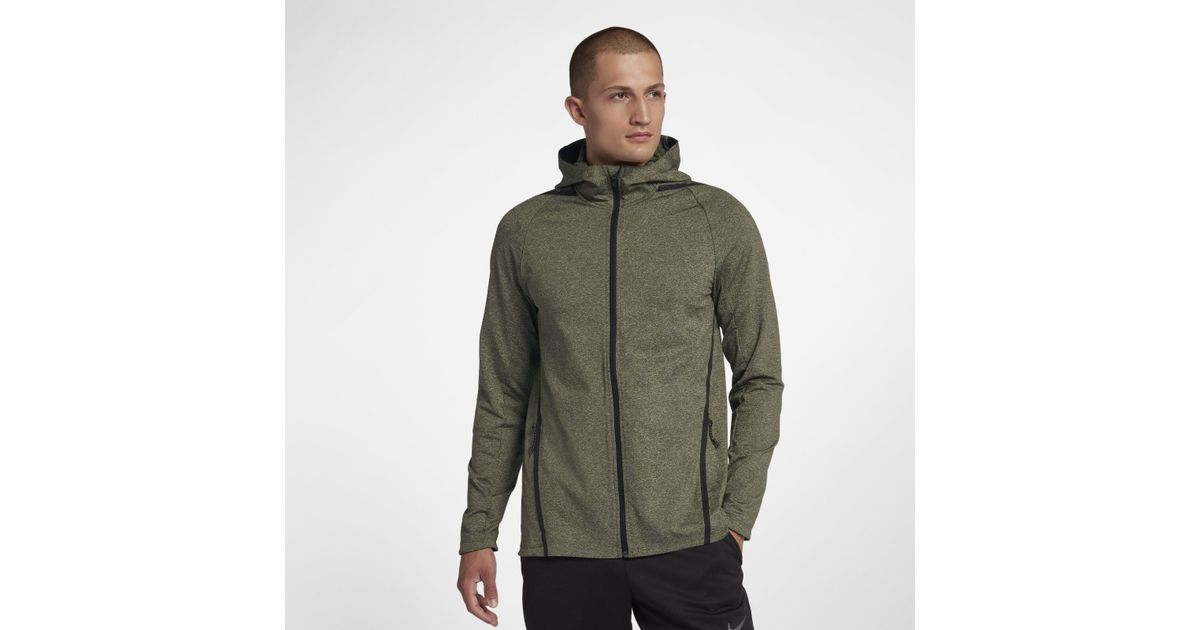 7b9fe0a2 Nike Dri-fit Long-sleeve Full-zip Training Hoodie in Green for Men - Lyst