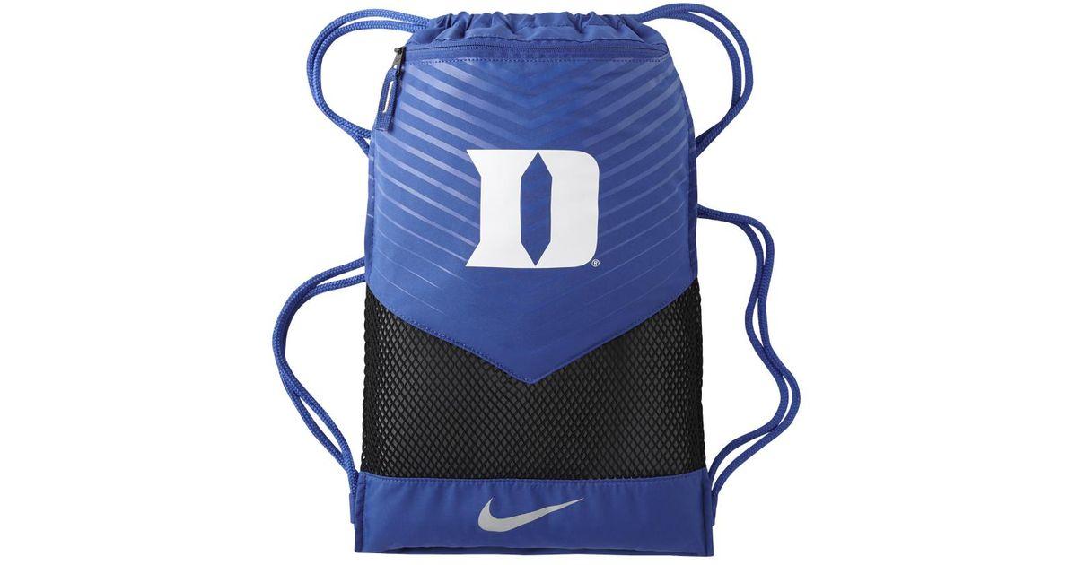 Lyst Nike College Vapor 20 Duke Gym Sack Blue In Blue For Men