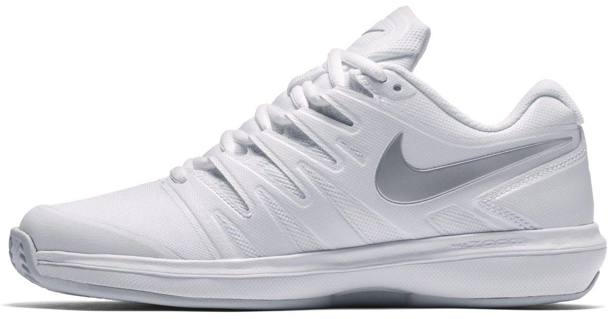 fed63c36bfcd Nike Air Zoom Prestige Hc Women s Tennis Shoe in White - Lyst