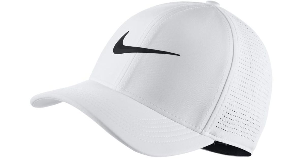78a676f6 Lyst - Nike Aerobill Classic 99 Fitted Golf Hat in White for Men