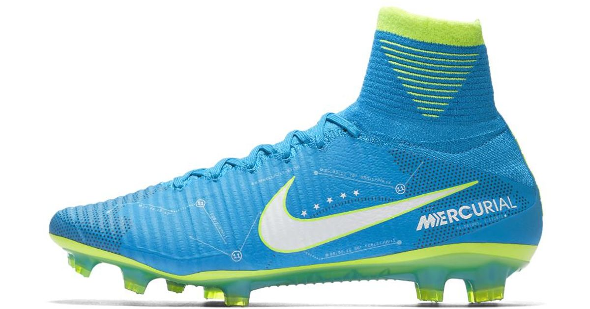 purchase cheap e8aa2 4a114 Lyst - Nike Mercurial Superfly V Dynamic Fit Neymar Firm-ground Soccer  Cleats in Blue for Men