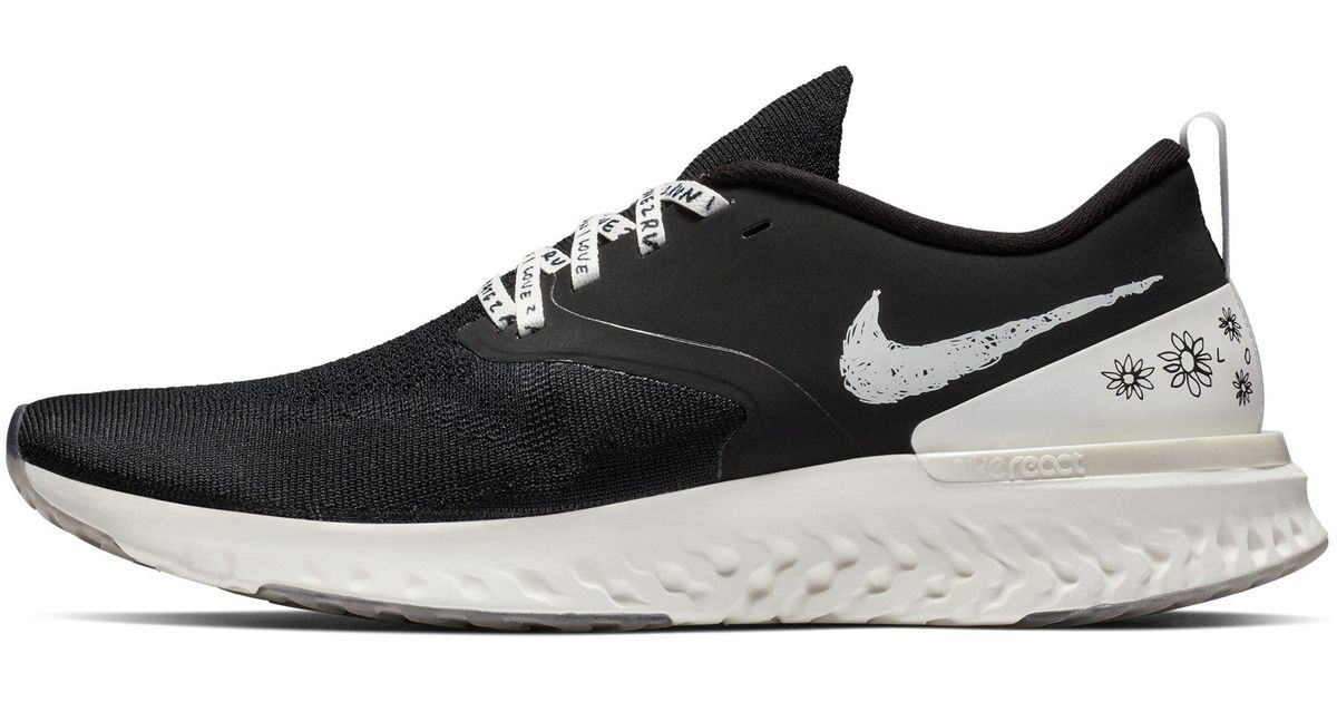 7db875a36e91 Nike Odyssey React Flyknit 2 Nathan Bell Running Shoe in Black for Men -  Lyst
