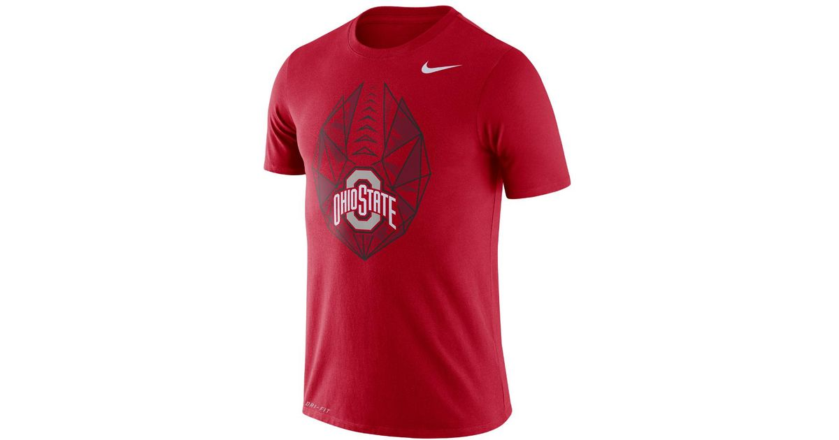 5093571b Lyst - Nike College Dri-fit Football Icon (ohio State) Men's T-shirt in Red  for Men