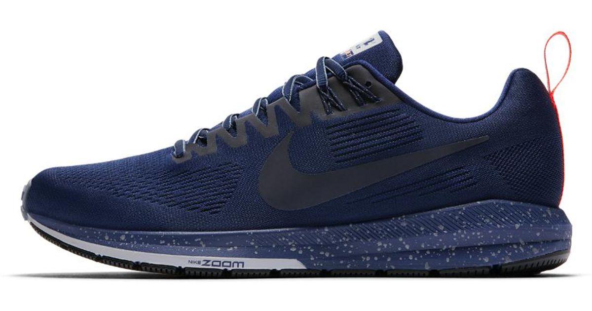 f4296af6d83 Lyst - Nike Air Zoom Structure 21 Shield Men s Running Shoe in Blue for Men