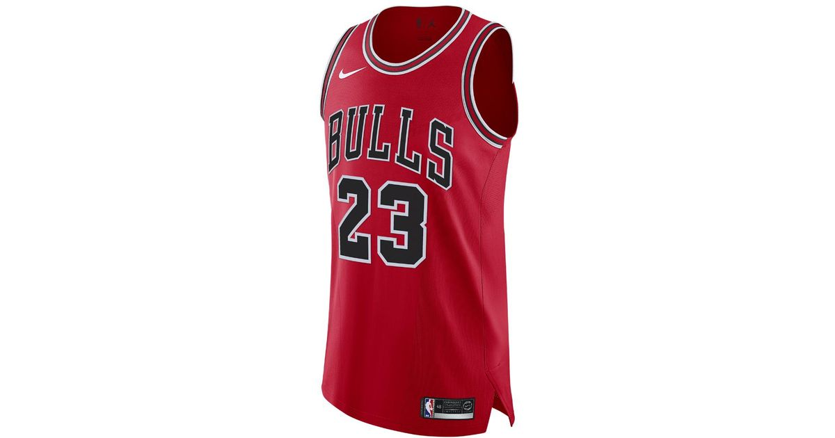Lyst - Nike Michael Icon Edition Authentic Jersey (chicago Bulls) Men s Nike  Nba Connected Jersey in Red for Men a45c9bf66