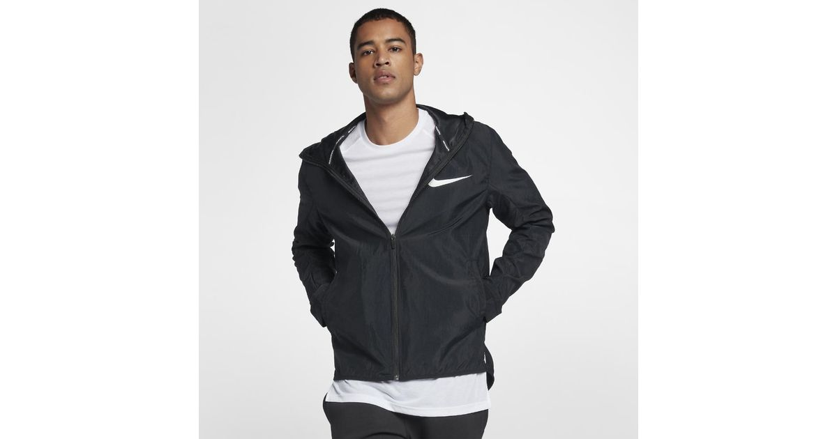 396dc7b4b3 Lyst - Nike Showtime Men s Basketball Jacket in Black for Men