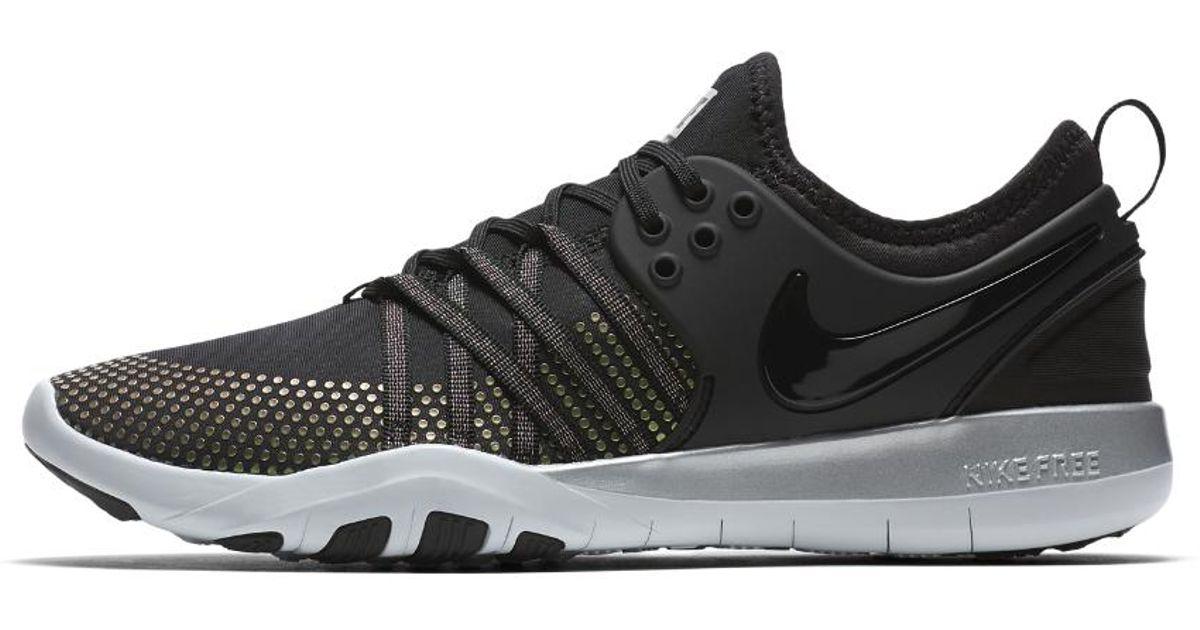 0882b95771c6 Lyst - Nike Free Tr 7 Metallic Women s Training Shoe in Black