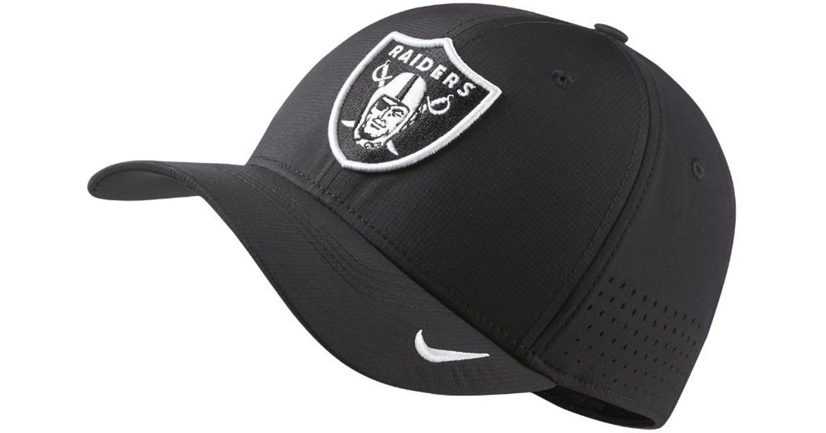 Lyst - Nike Swoosh Flex (nfl Raiders) Fitted Hat in Black for Men c1b1d9d48ae