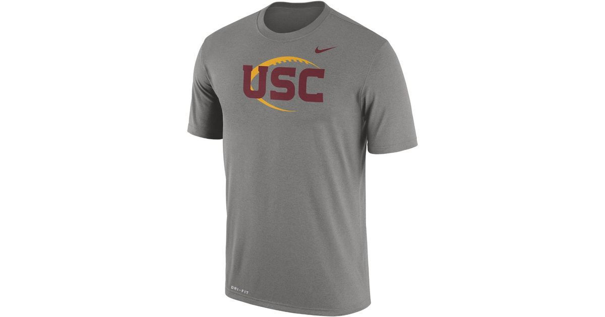 competitive price 8cc93 89b36 Nike - Gray College Legend Icon (usc) Men's T-shirt for Men - Lyst