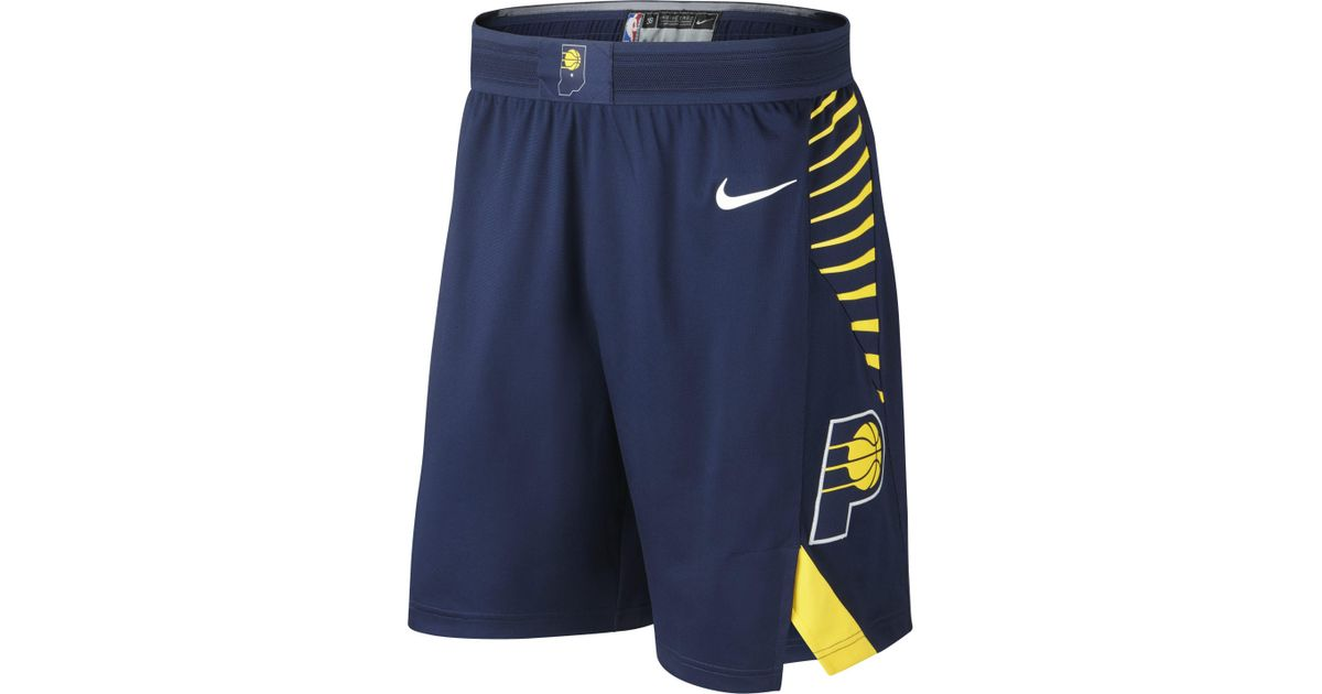 e5f6e0f50019 Nike Indiana Pacers Icon Edition Authentic Nba Shorts in Blue for Men - Lyst