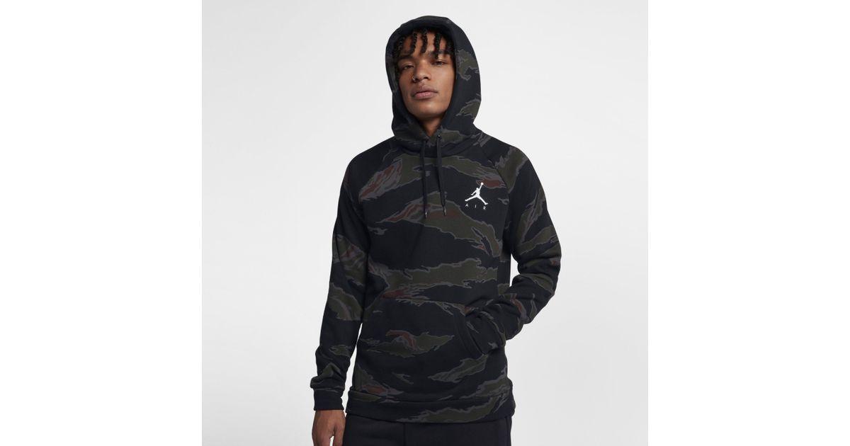 928632833ae397 Nike Jordan Sportswear Jumpman Camo Fleece Full-zip Hoodie in Black for Men  - Lyst