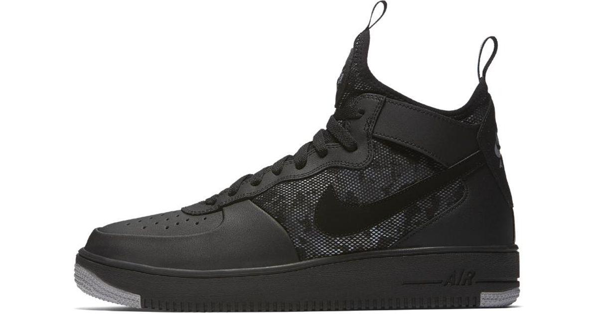 Lyst - Nike Air Force 1 Ultraforce Mid Men s Shoe in Black for Men b51703fec
