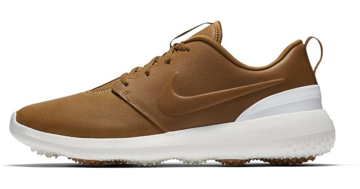 5989f351cec5 Nike Roshe G Golf Shoes White Gold  Nike golf nrg roshe g tour uk ...
