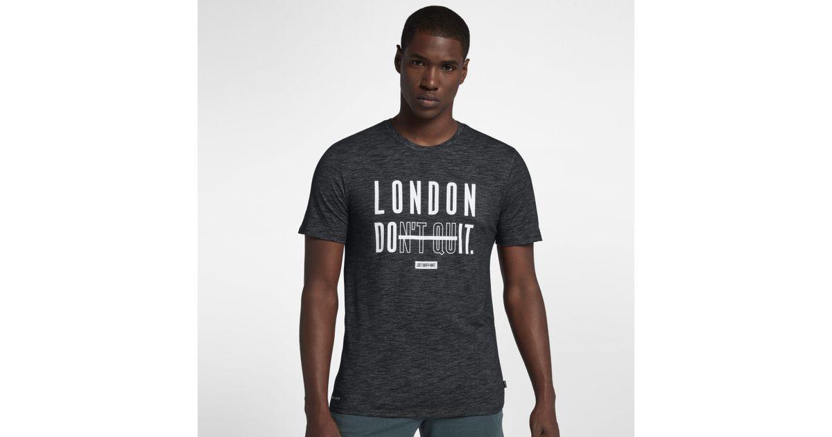 42780ce1 Nike Dri-fit (london) Training T-shirt in Black for Men - Lyst