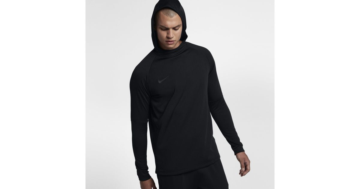 0f4e7e0f Nike Dri-fit Academy Pullover Football Hoodie in Black for Men - Lyst