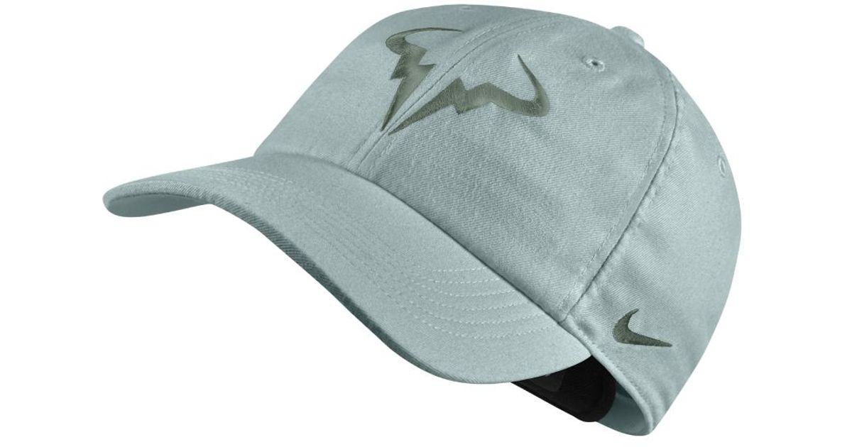 Lyst - Nike Court Aerobill H86 Rafael Nadal Adjustable Tennis Hat (grey) in  Gray for Men dab84da89b5