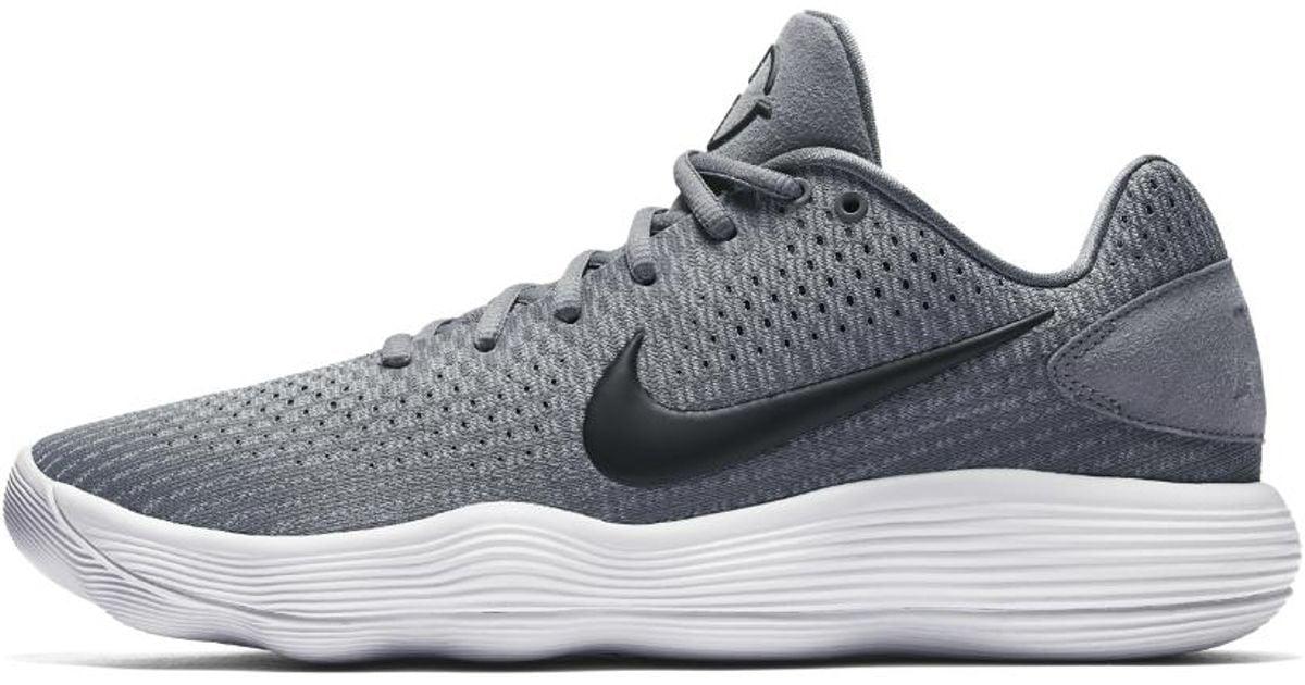 Lyst - Nike React Hyperdunk 2017 Low Men s Basketball Shoe in Gray for Men b1b0a14d48c3