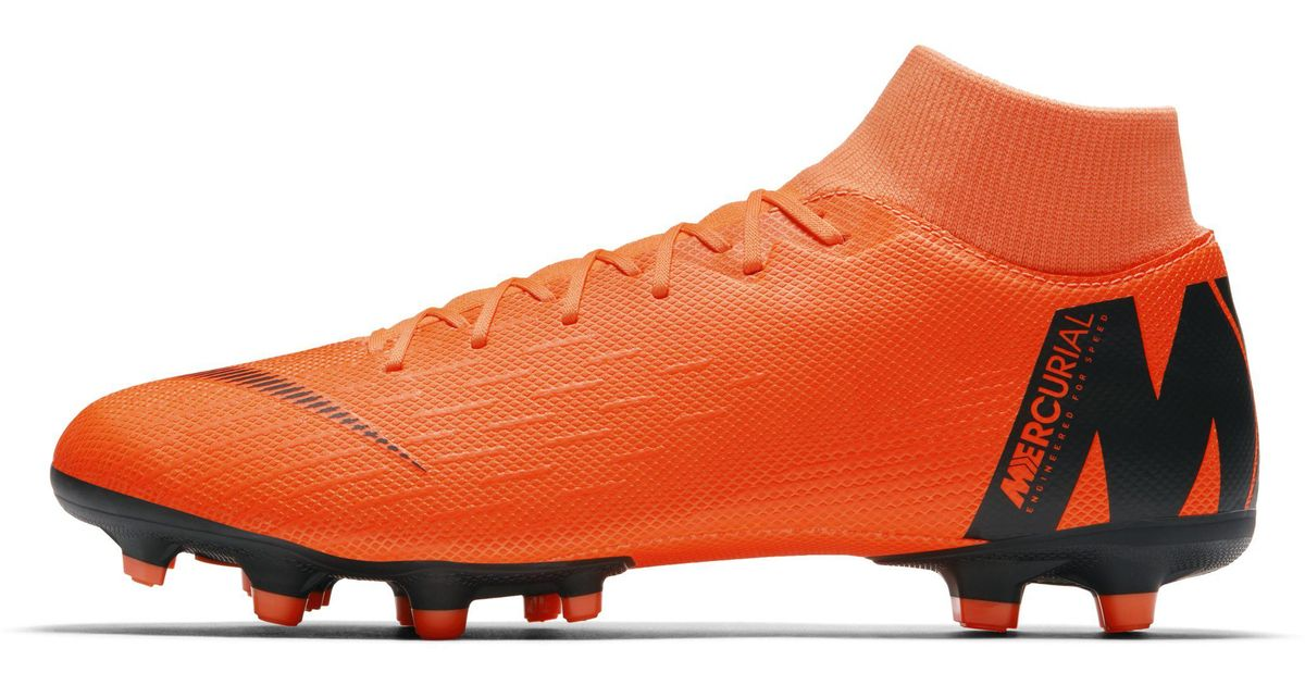 save off 9f62d 44198 Nike Mercurial Superfly Vi Academy Multi-ground Football Boot in Orange for  Men - Lyst