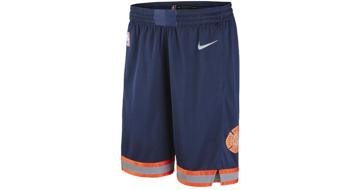 Lyst - Nike New York Knicks City Edition Swingman Men s Nba Shorts in Blue  for Men - Save 2% 86cdbf761637