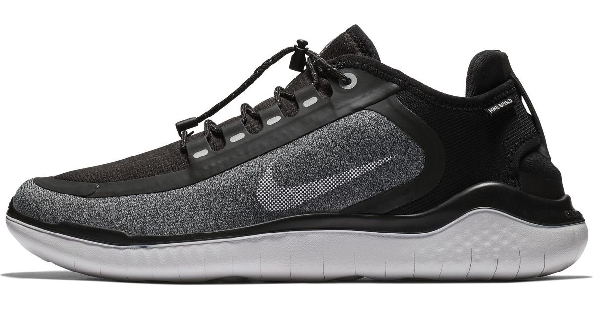 5ab6738f4fd Nike Free Rn 2018 Shield Water-repellent Running Shoe in Black for Men -  Lyst